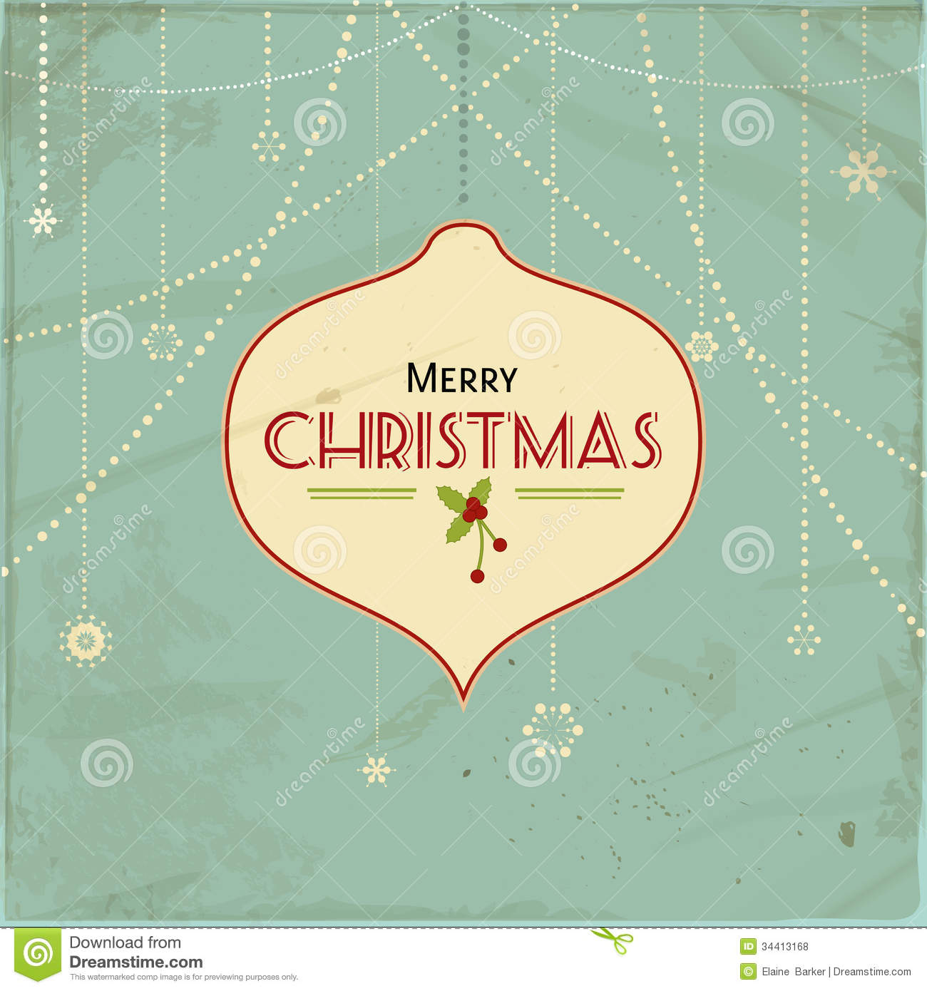 Vintage Christmas Background2 Stock Vector