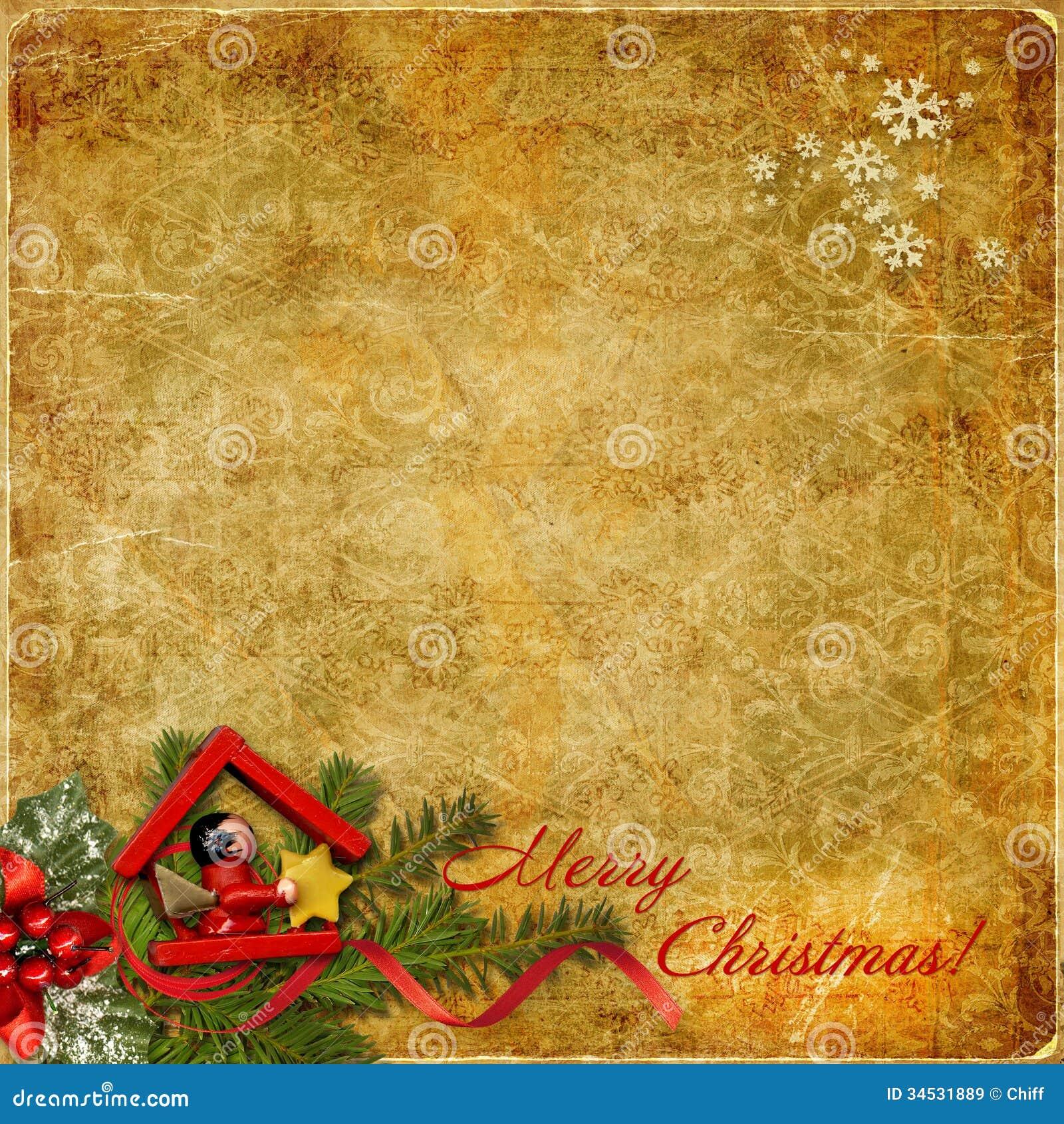Vintage Christmas Background Stock Illustration - Image ...