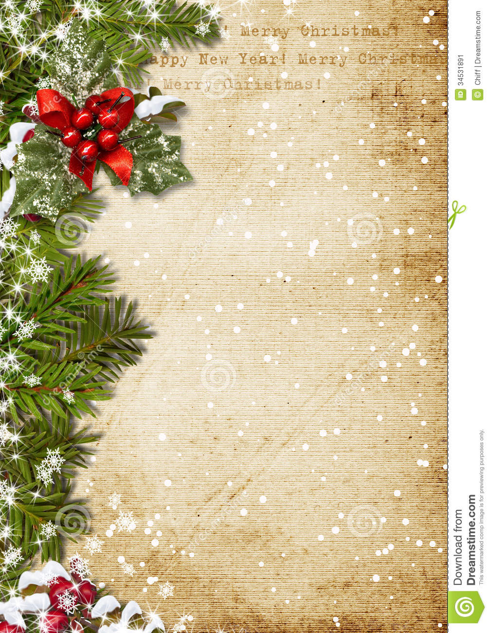 Vintage Christmas Background Stock Image - Image: 34531891