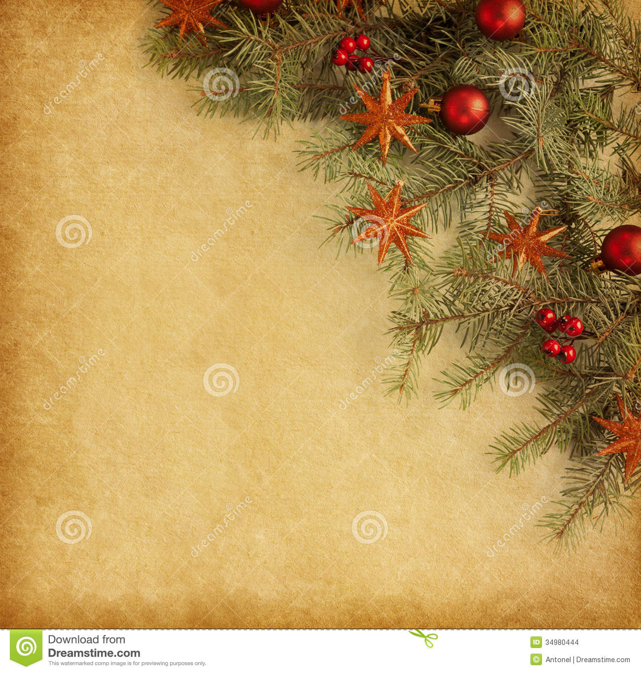 Vintage Christmas Background. Stock Photo - Image: 34980444