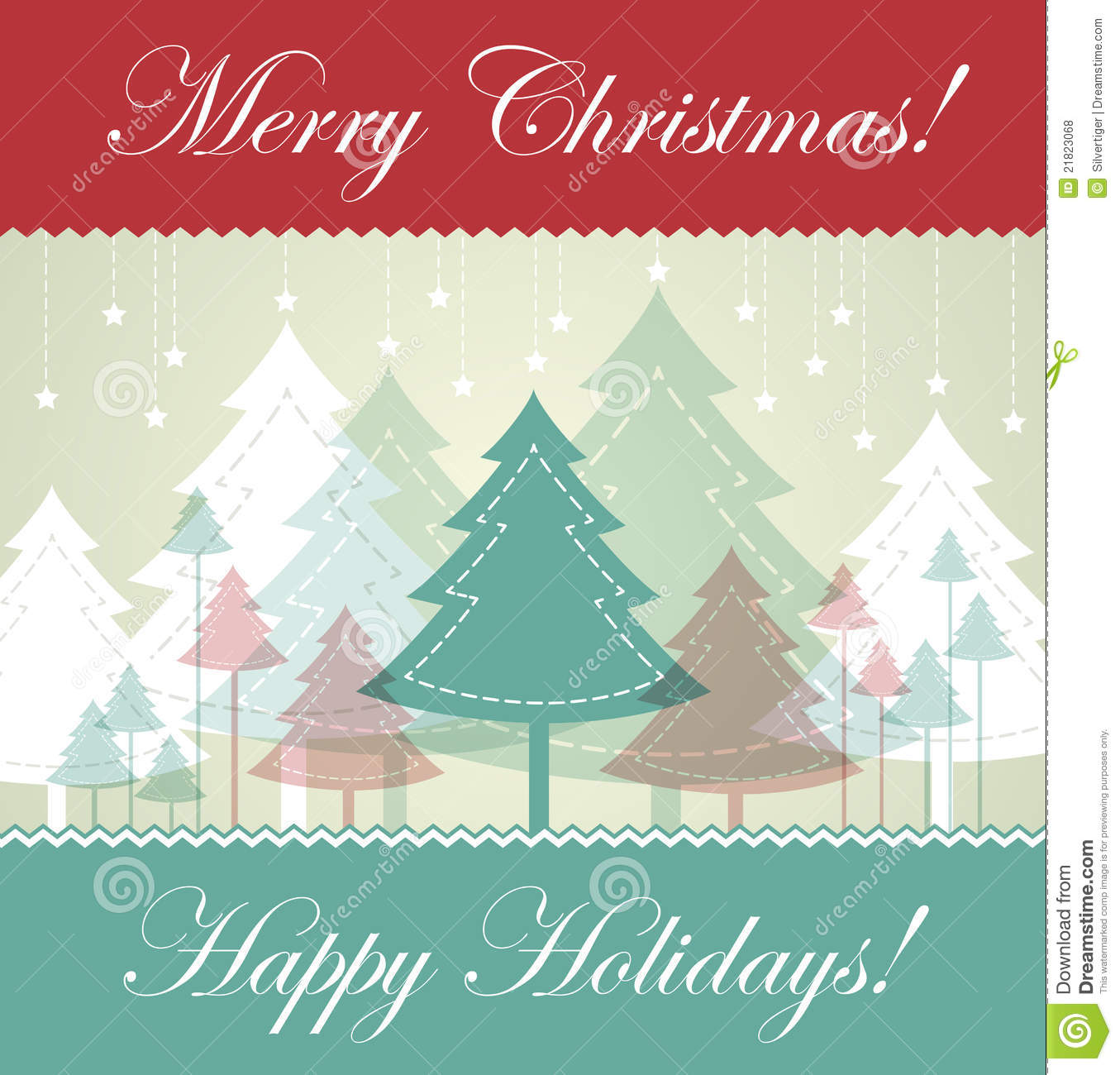 Vintage Christmas card stock vector. Image of cover ...
