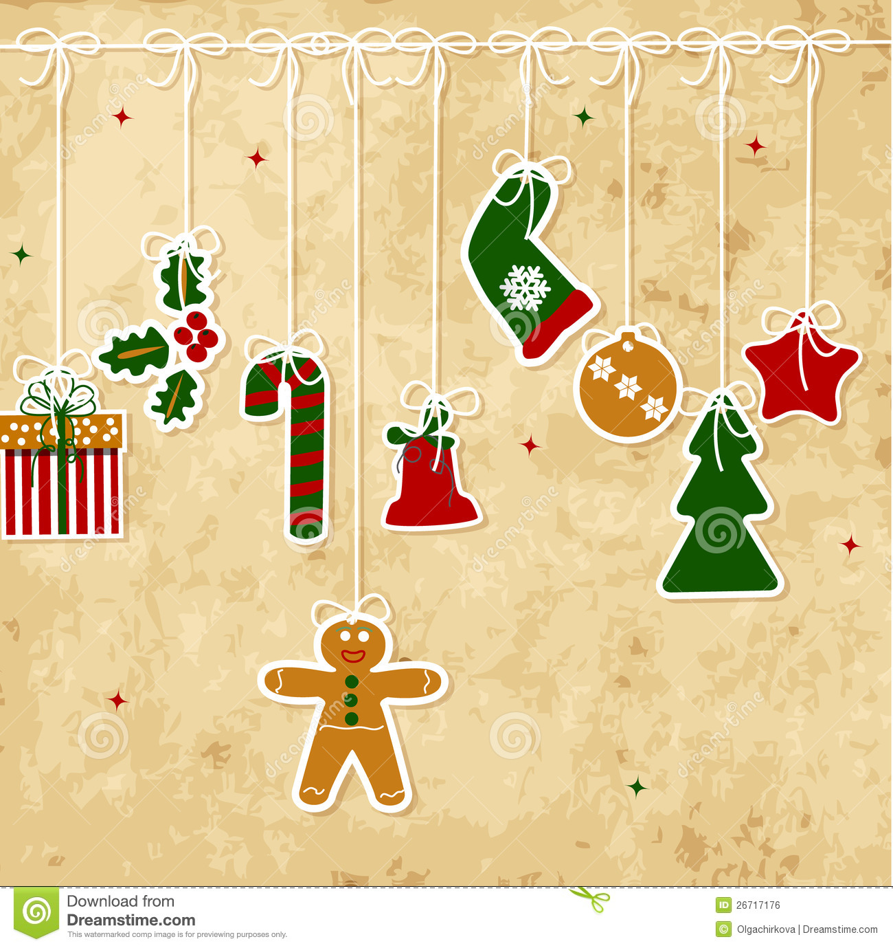 Vintage Christmas Card Royalty Free Stock Image - Image: 26717176