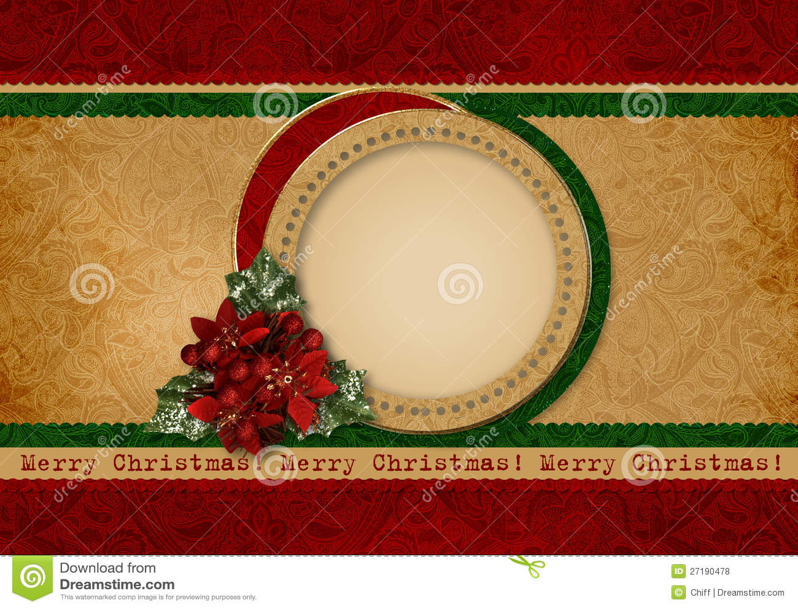 Vintage Christmas Card Royalty Free Stock Photos - Image ...