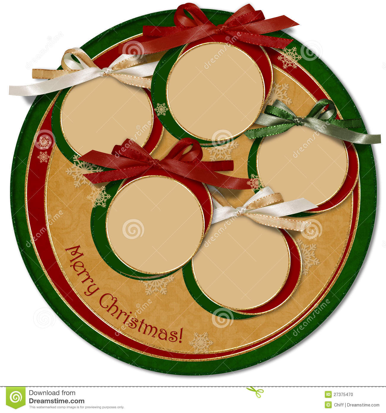 Vintage Christmas Cards Circle Template Print Congratulations And Invitations