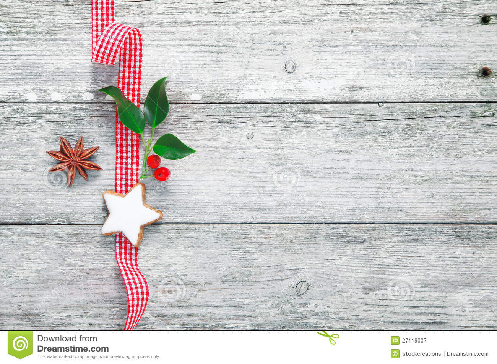 Vintage Christmas Decoration Stock Image - Image: 27119007