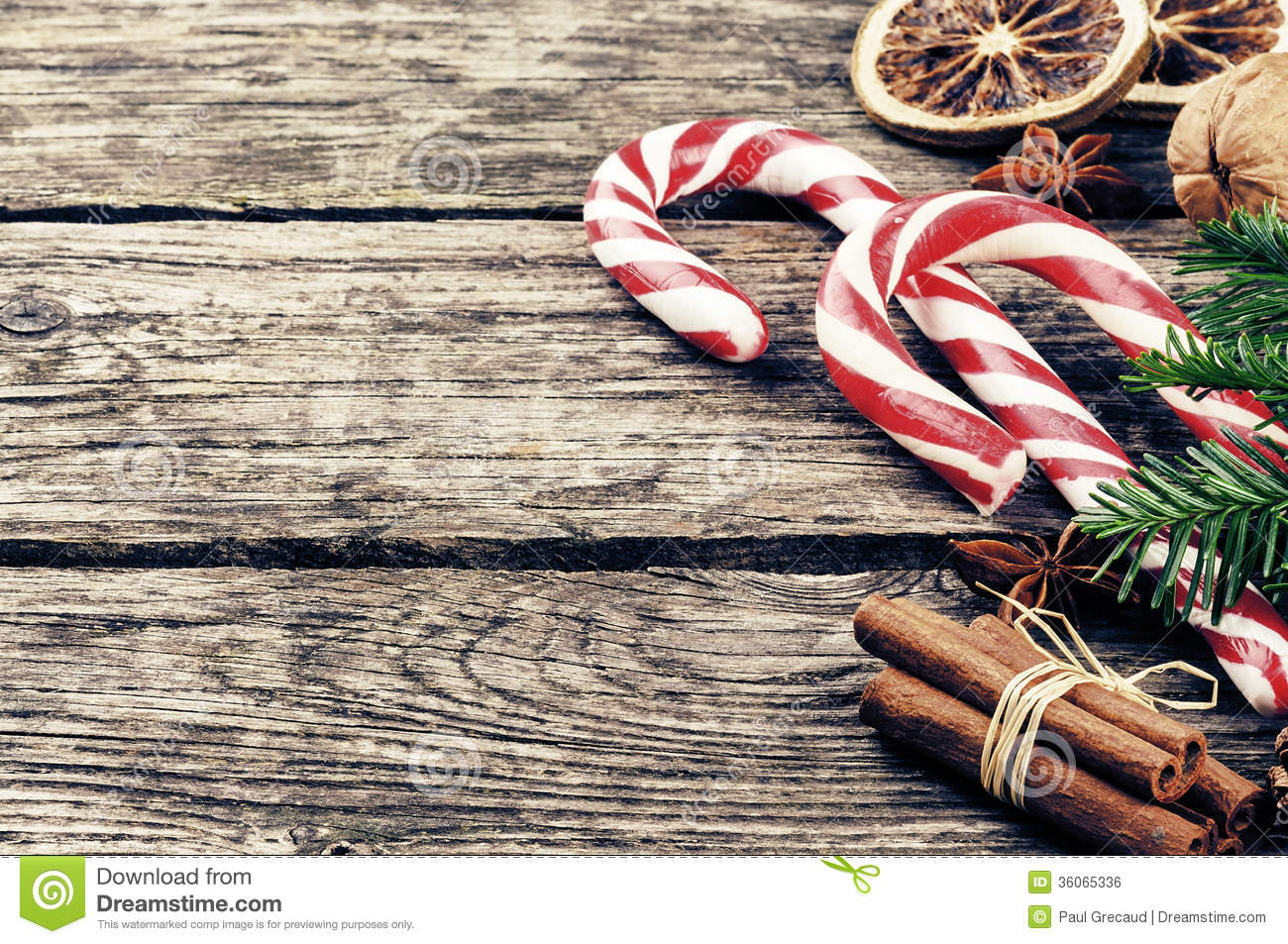 Vintage Christmas Decorations Stock Photo - Image: 36065336