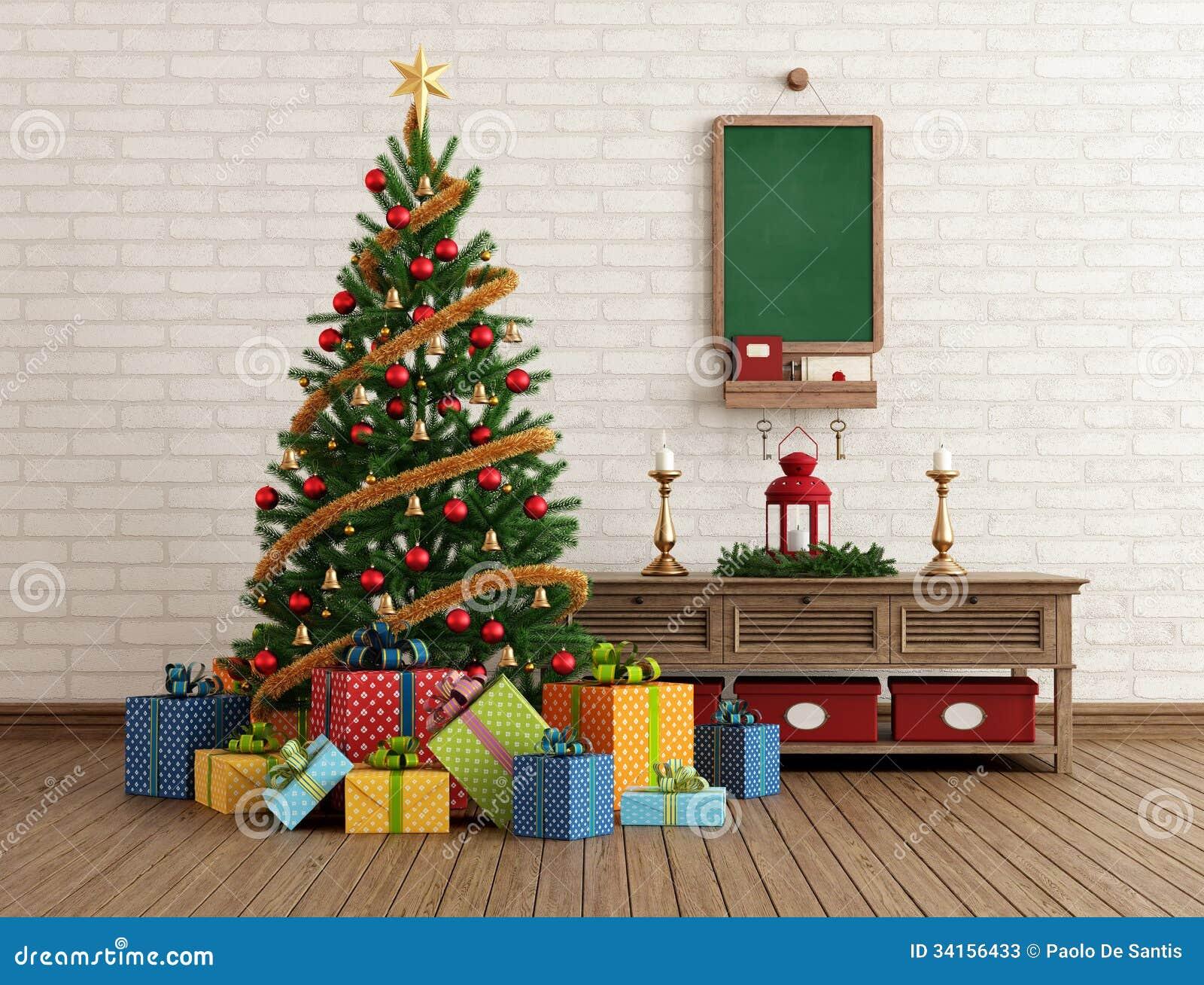 Vintage Christmas Interior Stock Photos Image 34156433
