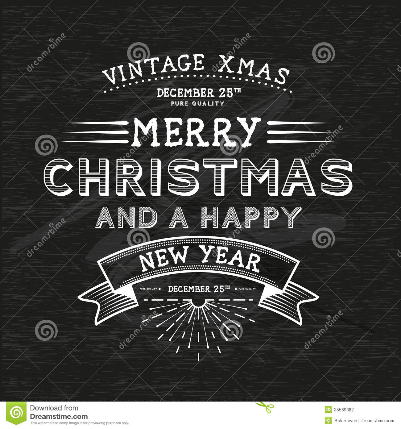 Vintage Christmas Message stock vector. Illustration of text - 35569382
