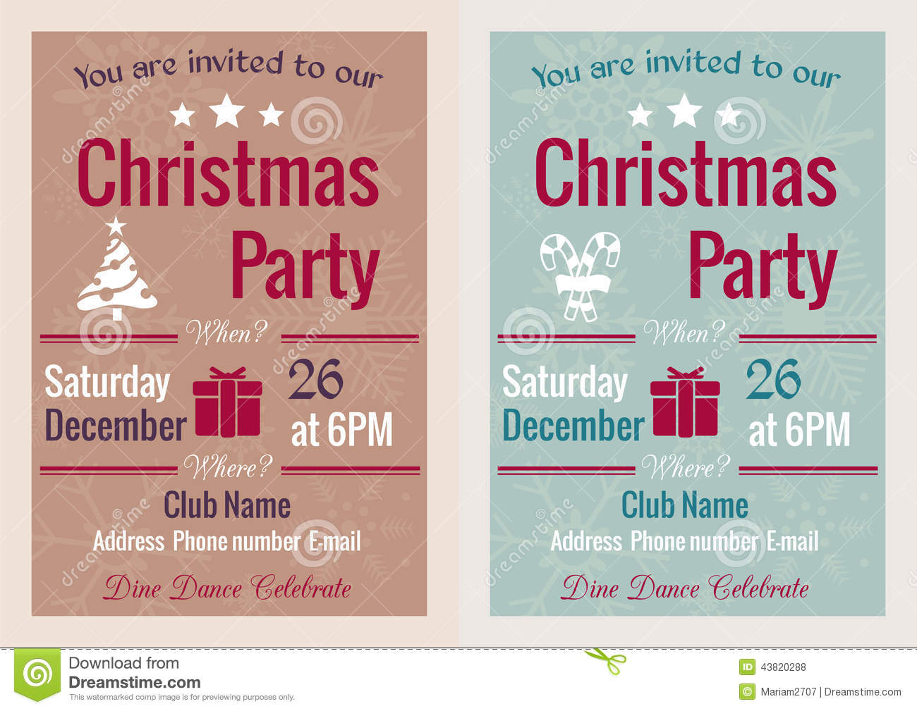 Vintage christmas party invitation stock vector illustration of vintage christmas party invitation stopboris Gallery