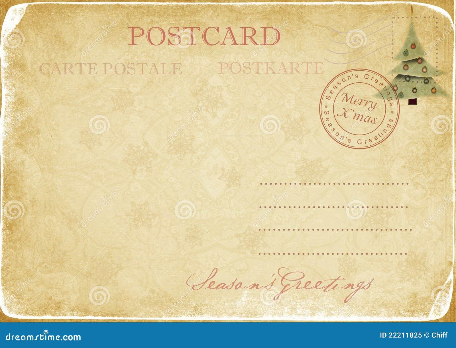 Vintage Christmas Postcard Royalty Free Stock Photo - Image: 22211825
