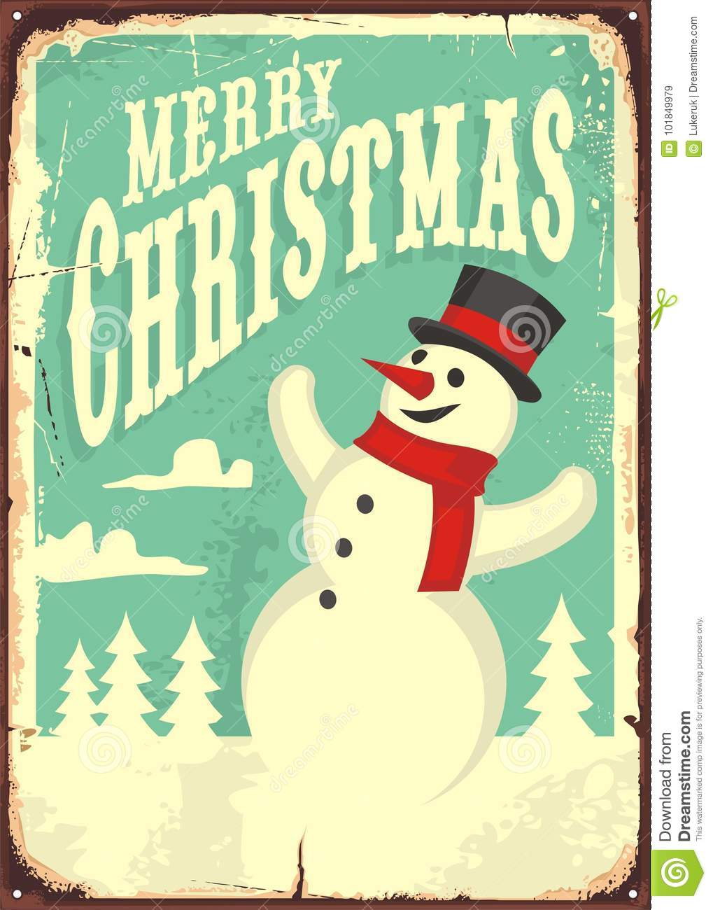 Vintage Christmas sign stock vector. Illustration of