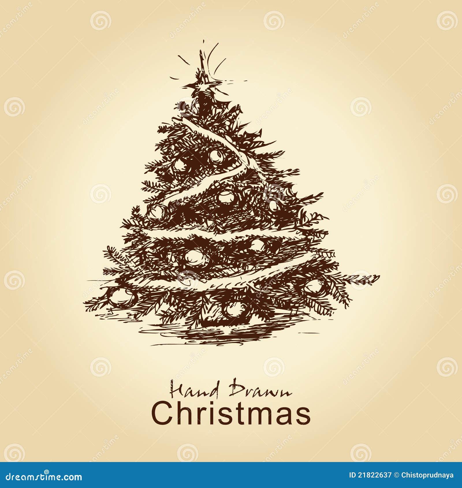 Vintage Christmas Tree Royalty Free Stock Photography ...