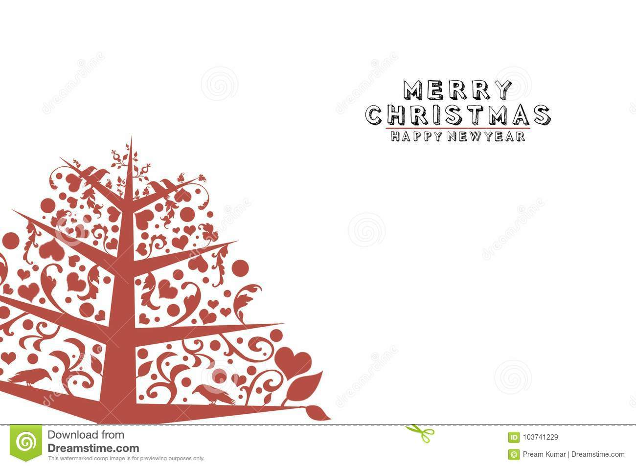 Vintage Christmas Tree On White Background Stock Illustration Illustration Of Abstract Year 103741229