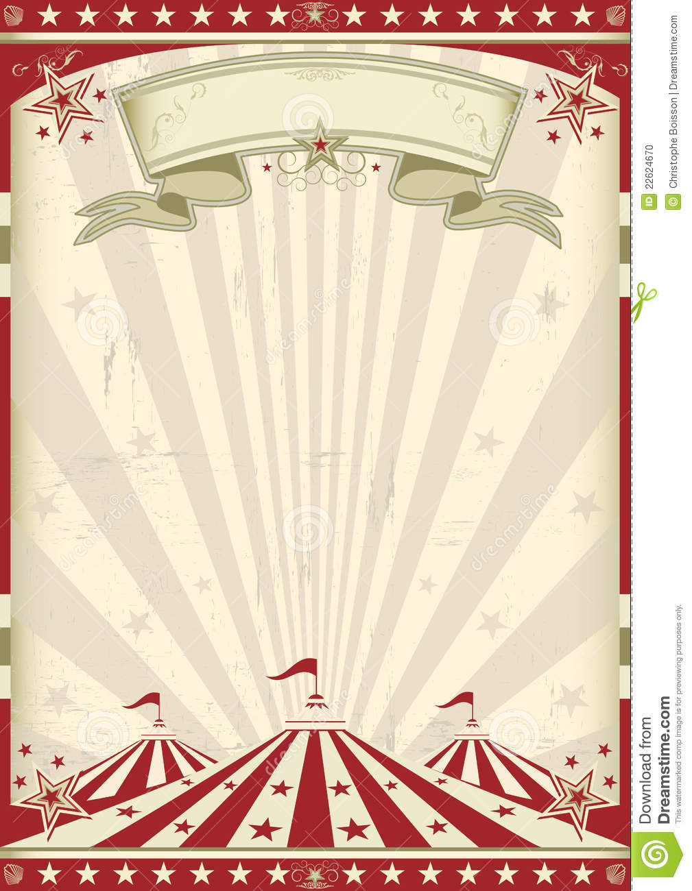 Vintage Circus Poster Background A circus vintage poster for