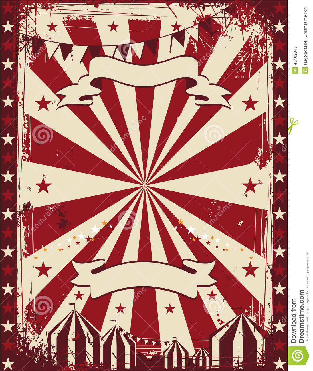 vintage circus poster background advertising stock vector