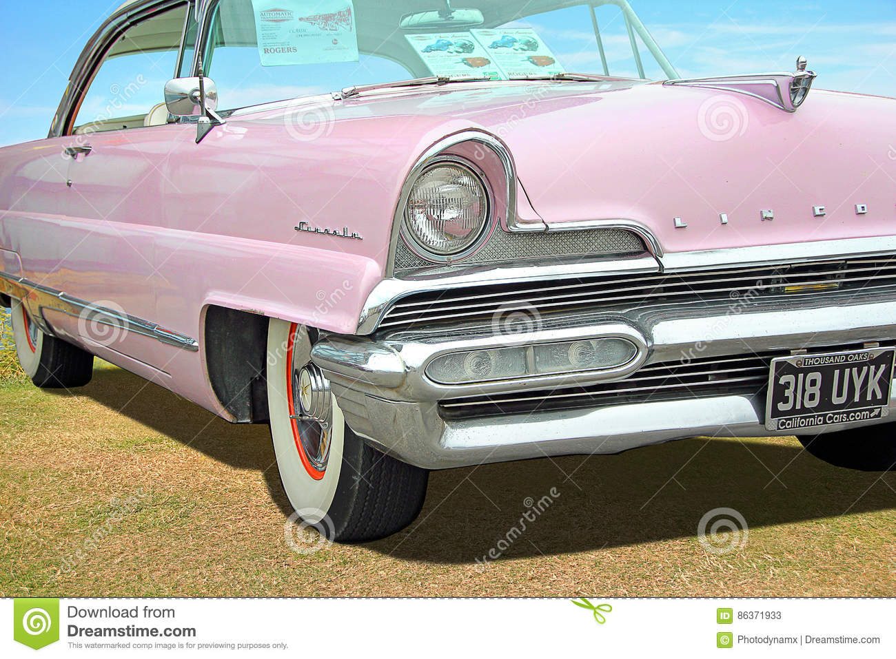 Vintage Classic American Lincoln Car Editorial Stock Photo Image