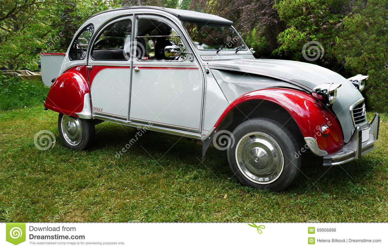 vintage classic cars citroen dolly editorial stock photo