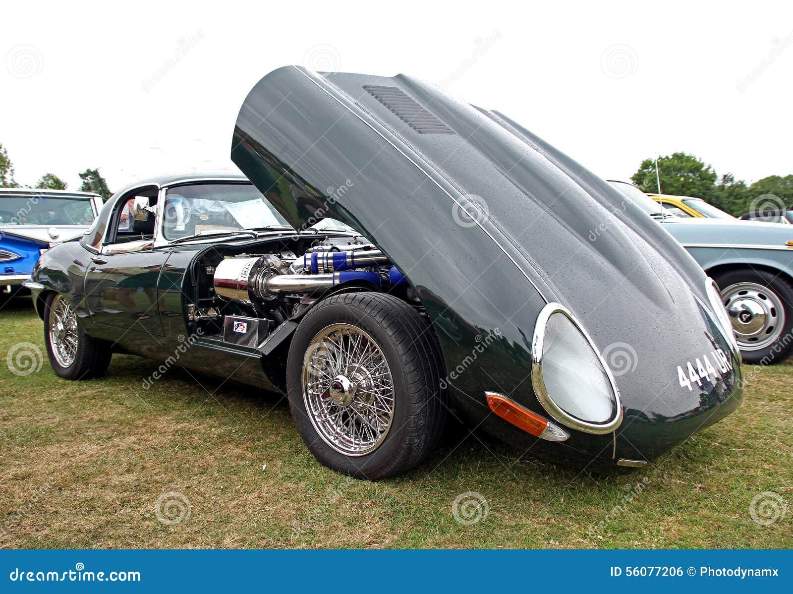 Vintage Classic E Type Jaguar Royalty Free Stock Image