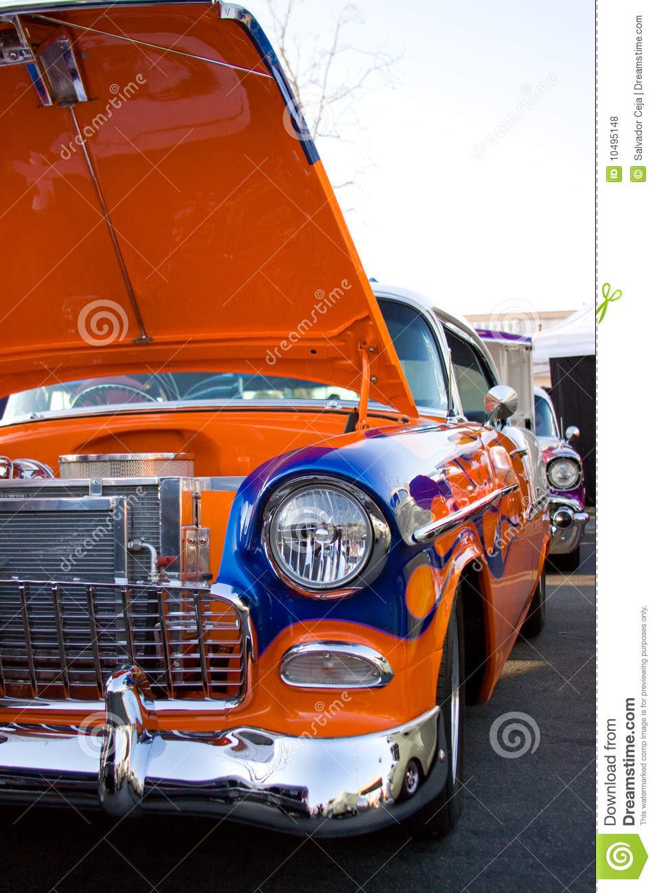 Vintage Classic Car Chrome Mirror Royalty Free Stock Photo