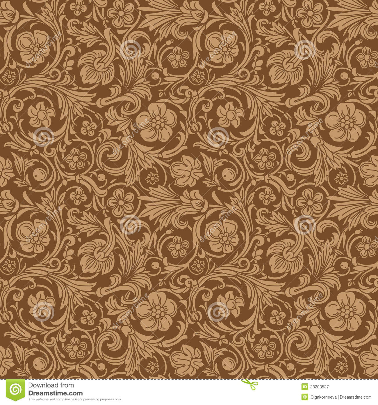 Vintage Classic Ornamental Seamless Vector Pattern Royalty