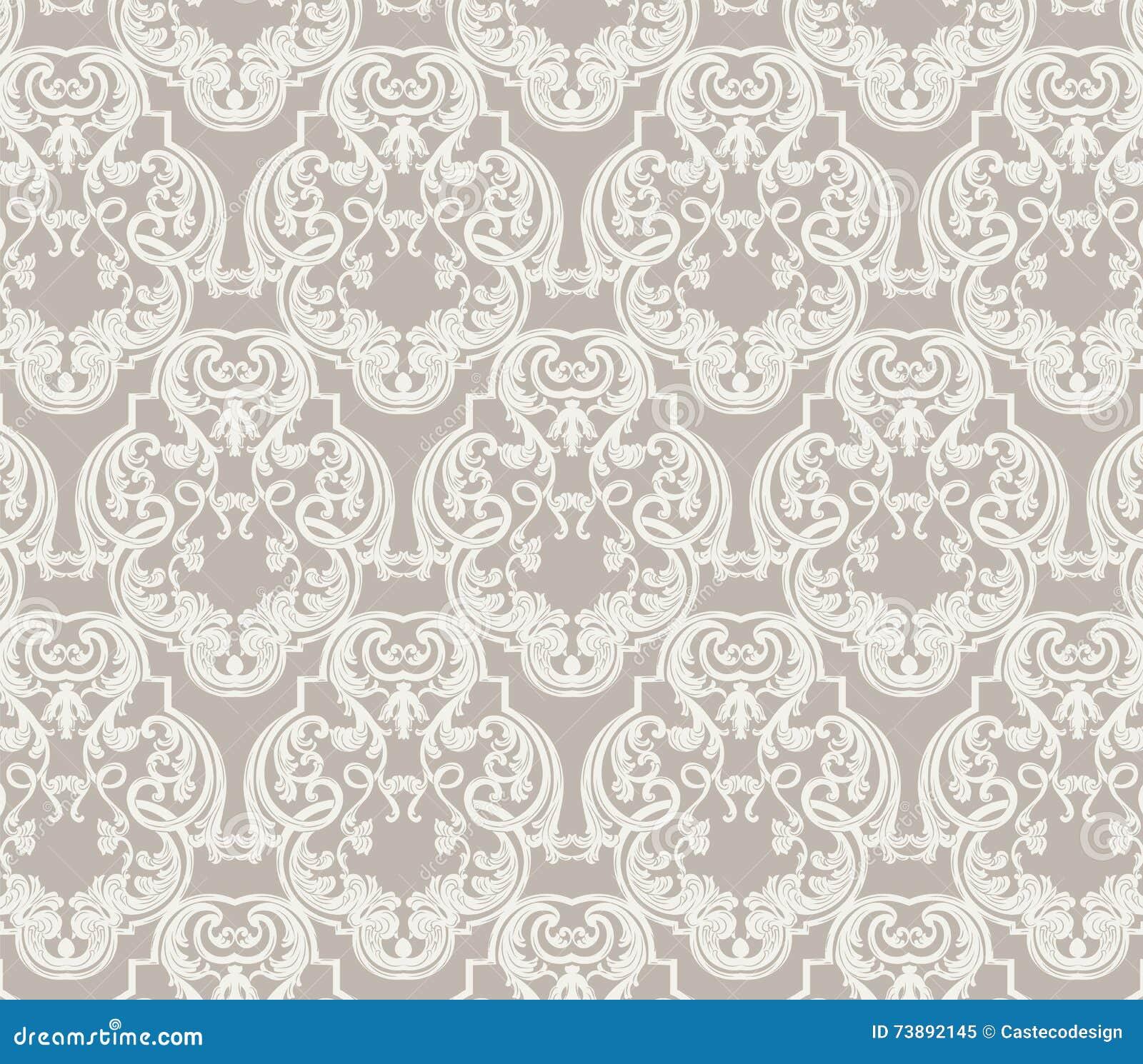 rococo motif vintage floral - photo #5
