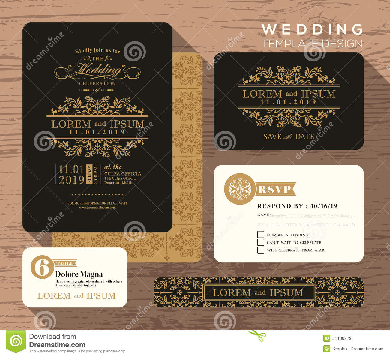 vintage save the date templates free - wedding invitation sets templates matik for