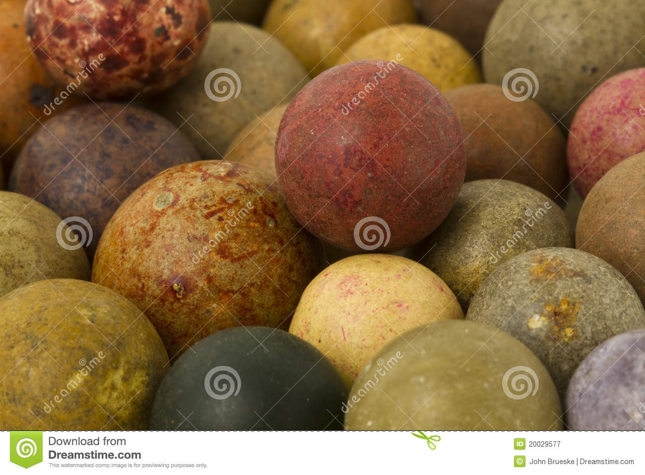 Vintage Clay Marbles Royalty Free Stock Photography