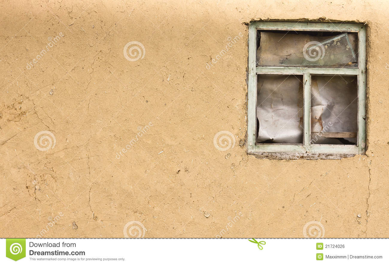 Vintage Clay Texture Old Wall With A Window(0).jpg Stock Photo ...