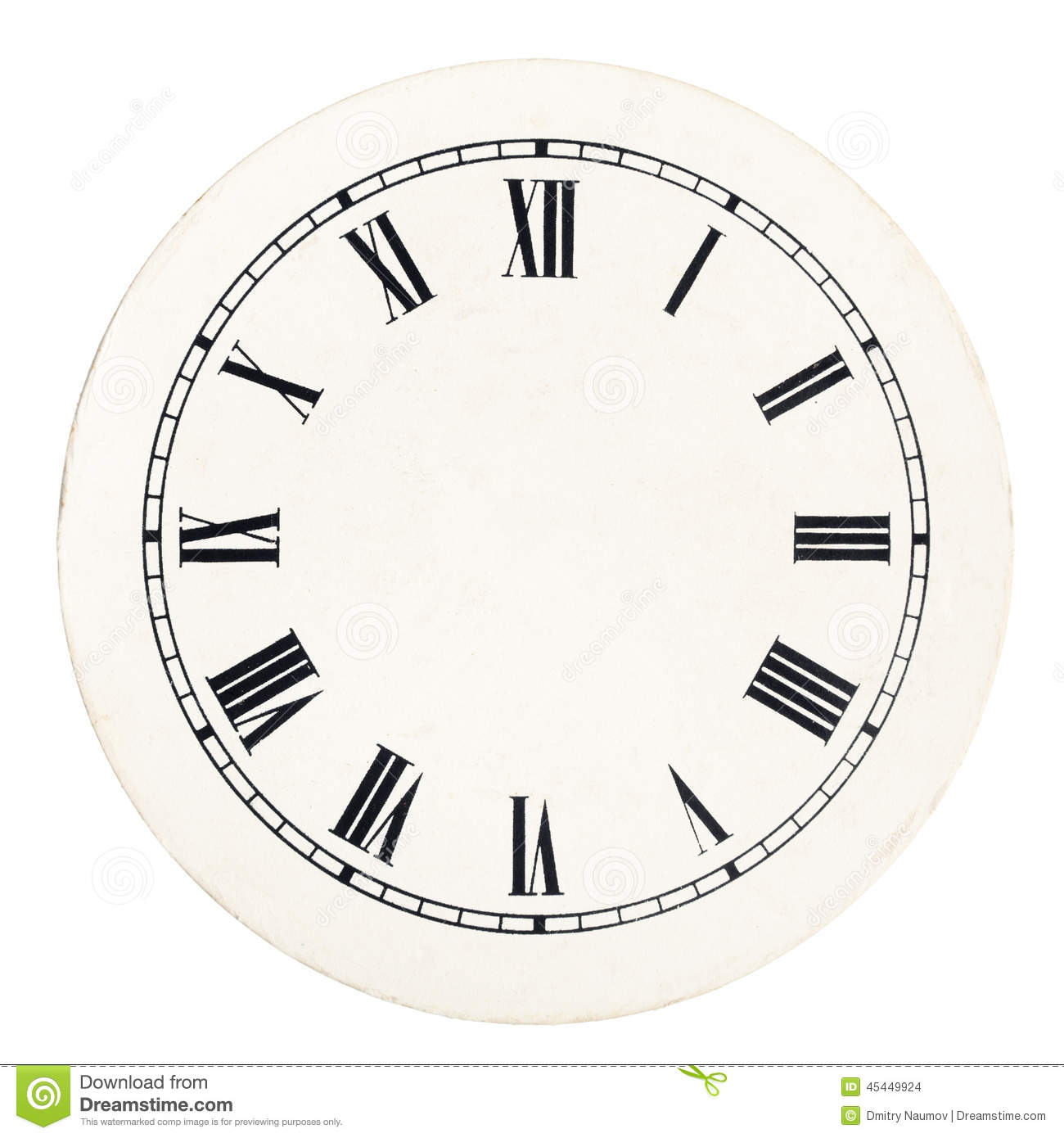 Vintage Clock Dial Template Stock Photo Image 45449924