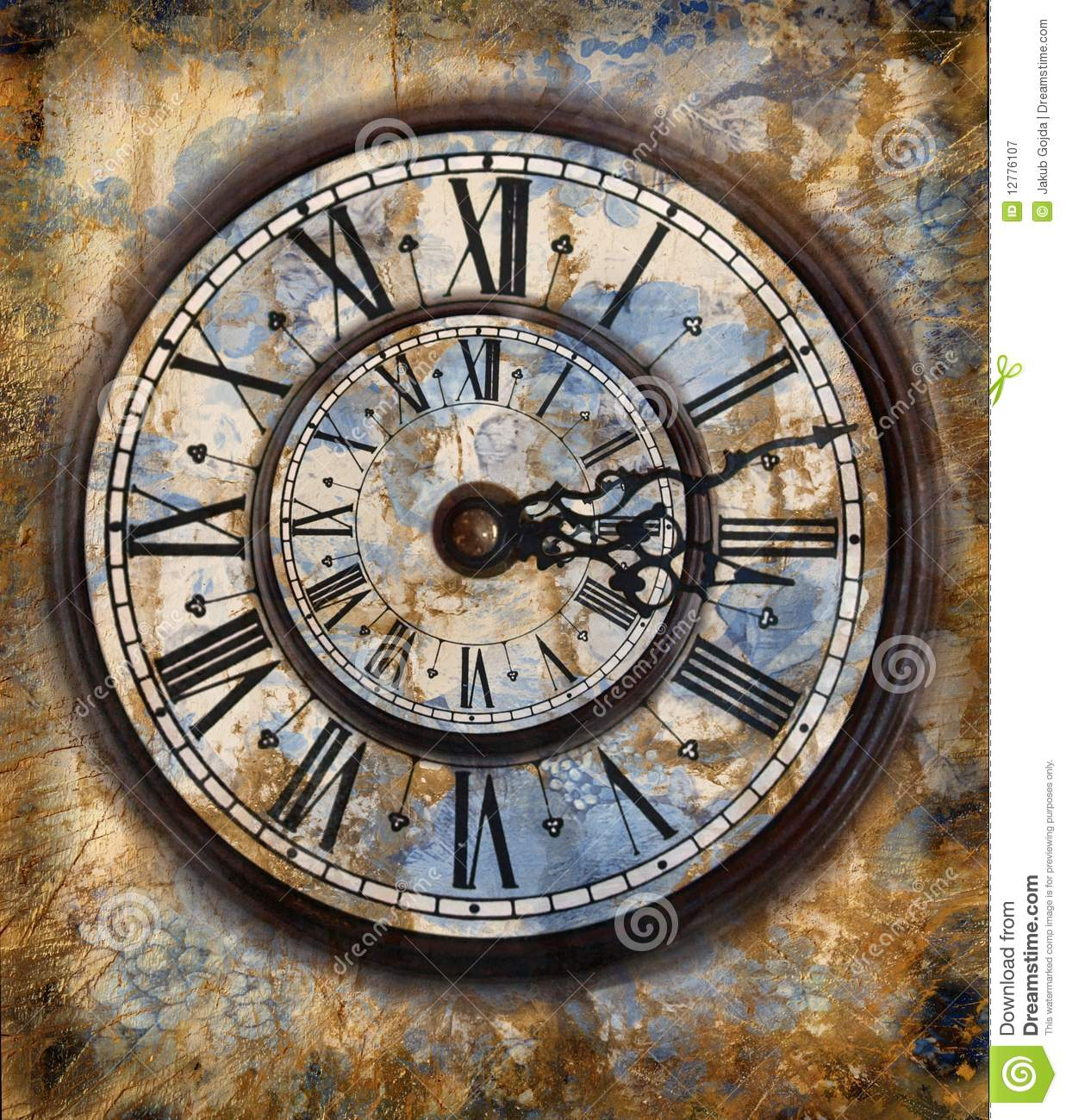 Vintage Clocks Stock Illustration Illustration Of