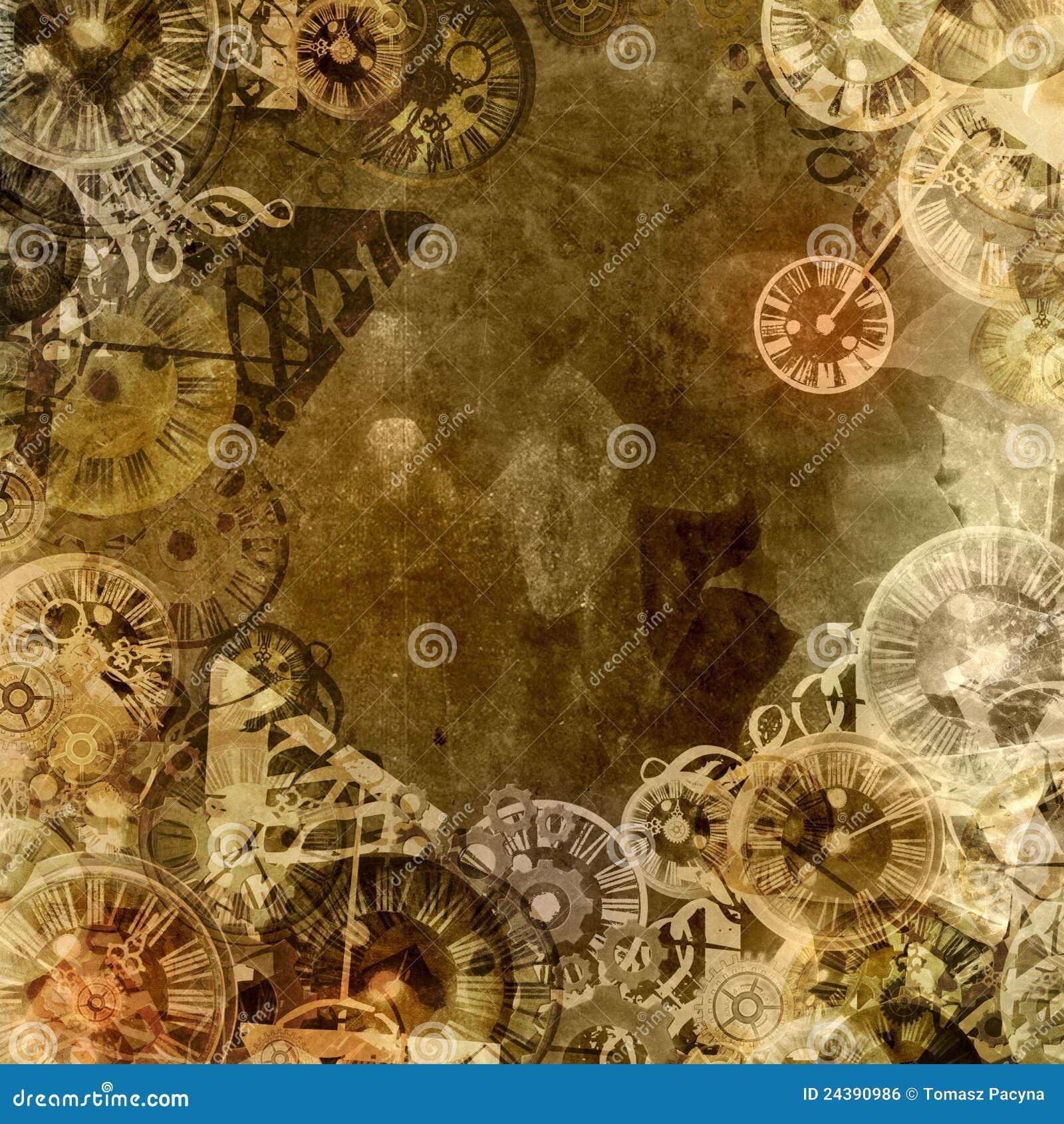 Vintage clocks time theme background