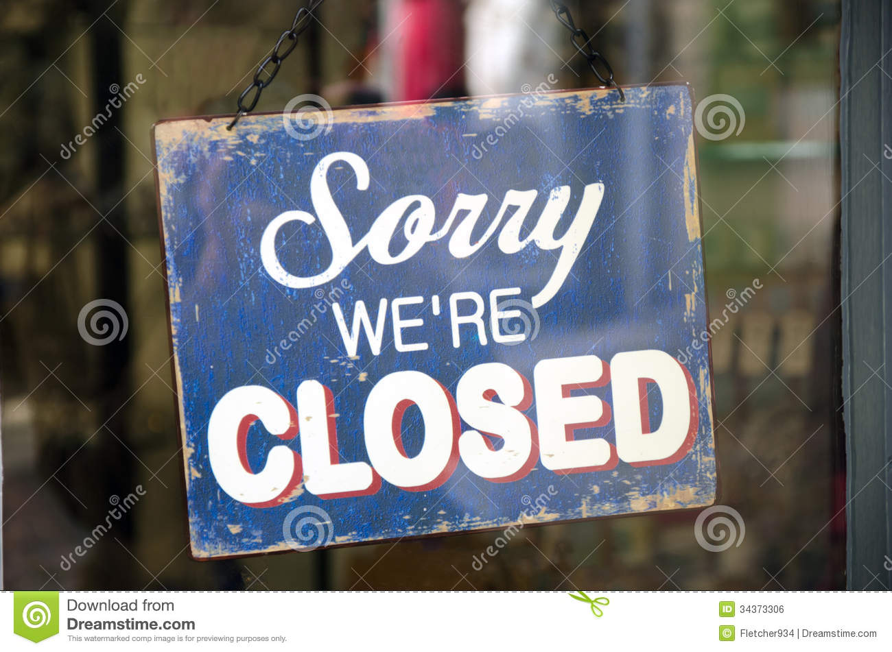 Vintage Closed Sign Royalty Free Stock Image Image 34373306