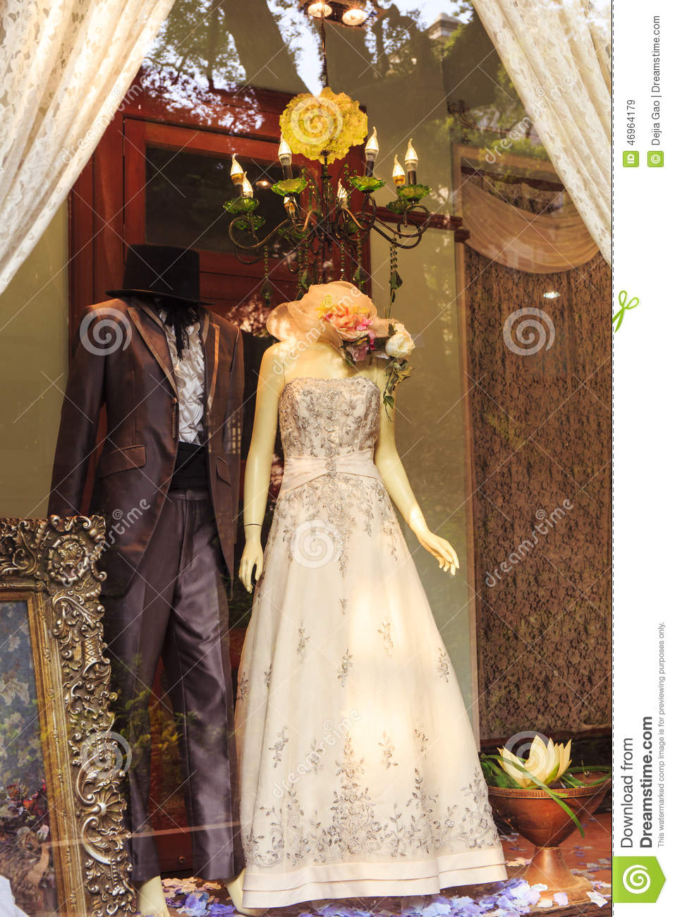 Fashion Clothing Store Window Clothes Shop Stock Image