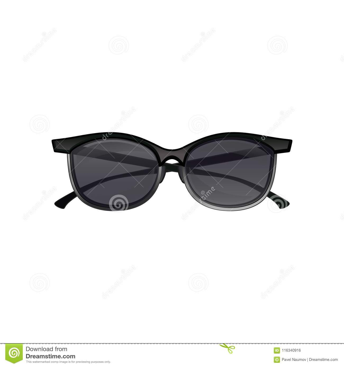4c0641dd6e Icon of vintage clubmaster sunglasses black tinted lenses and half frame.  Fashion unisex spectacles. Element for poster or web banner of optical  store.