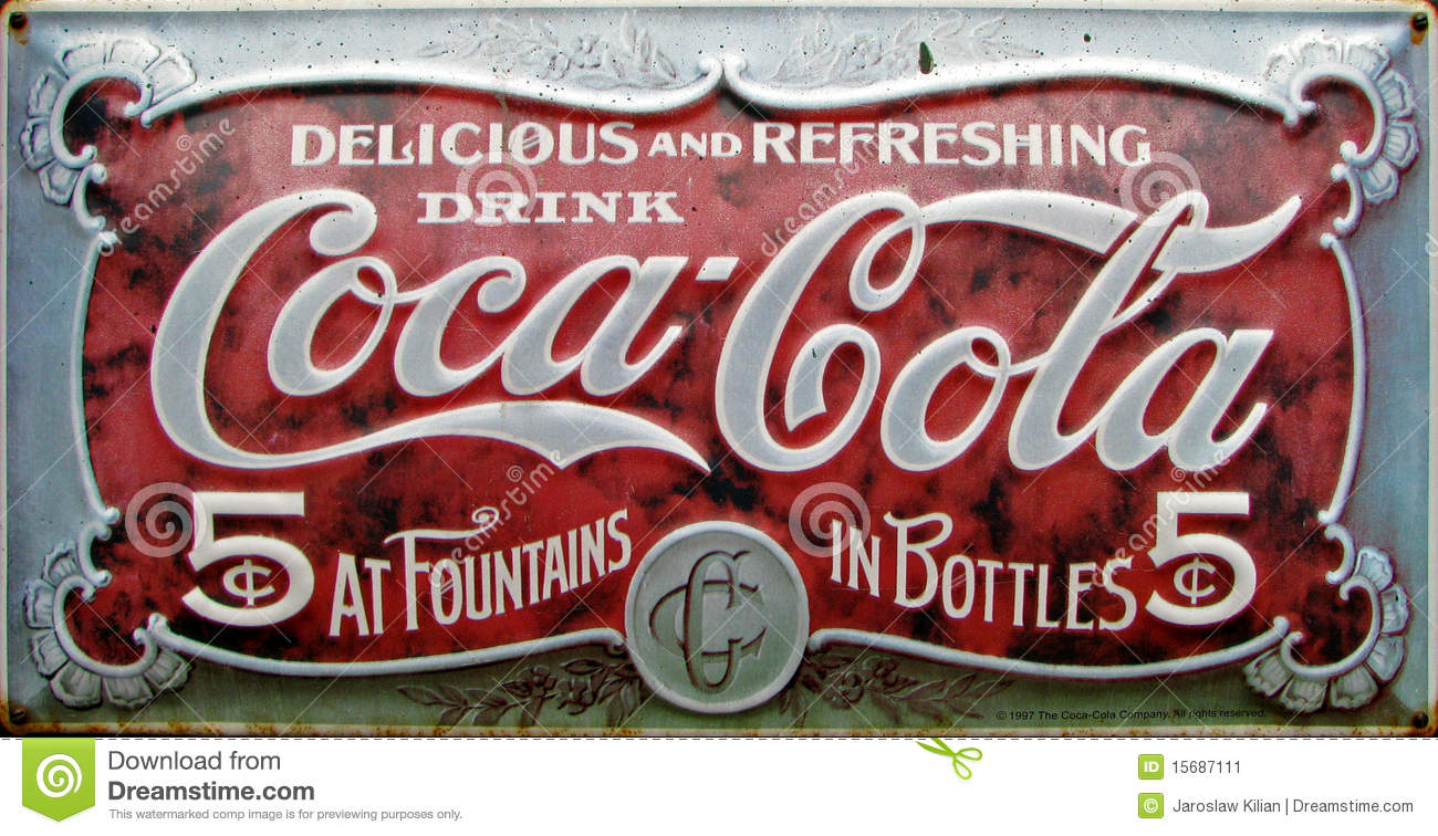 Fabulous Vintage coca cola advert editorial photo. Image of advert - 15687111 @TD28