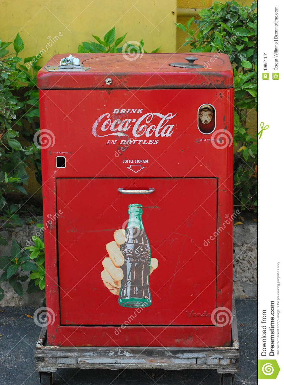 Vintage coca cola machines