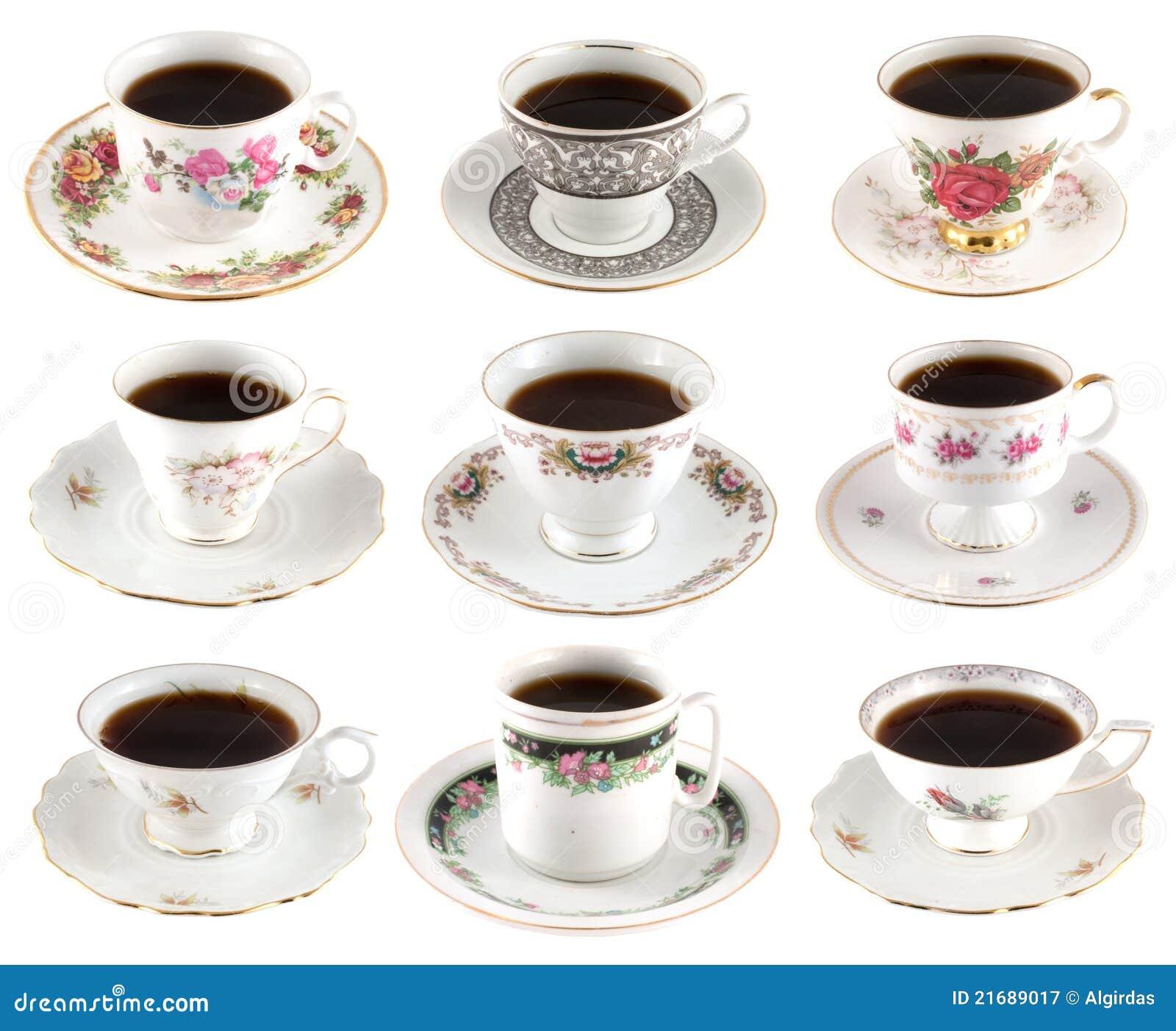 Vintage coffee cups