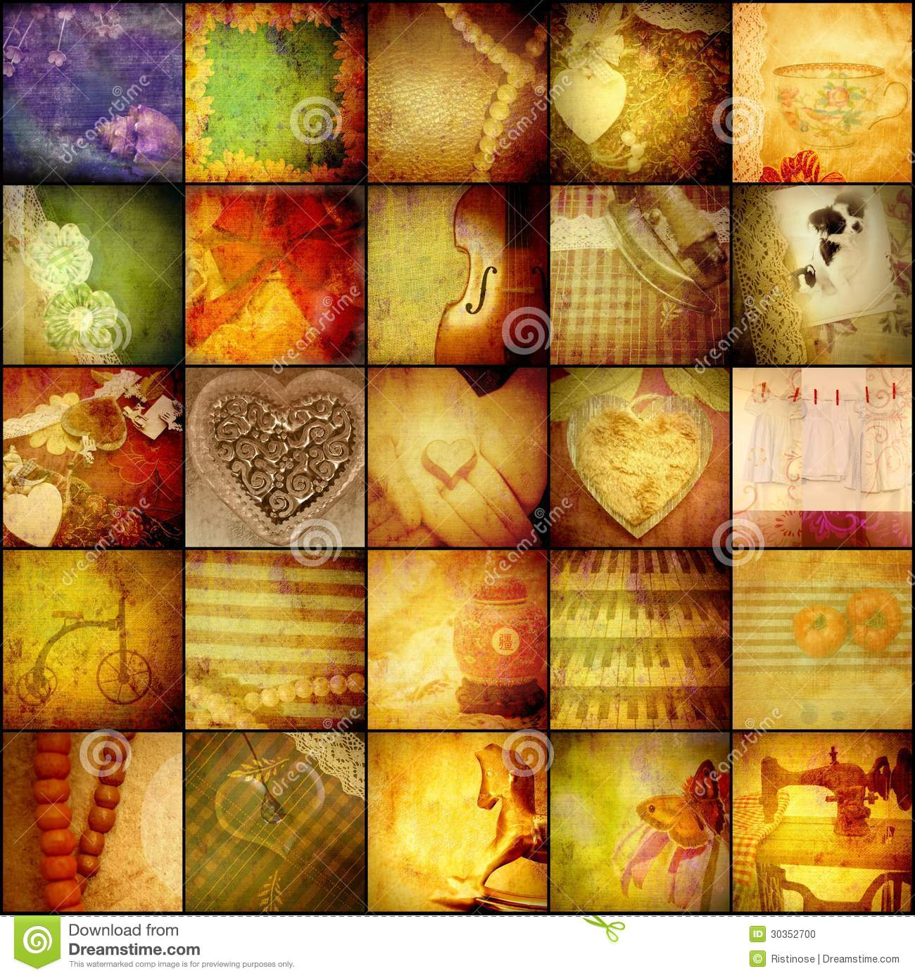 vintage collage background traditional concept mothers