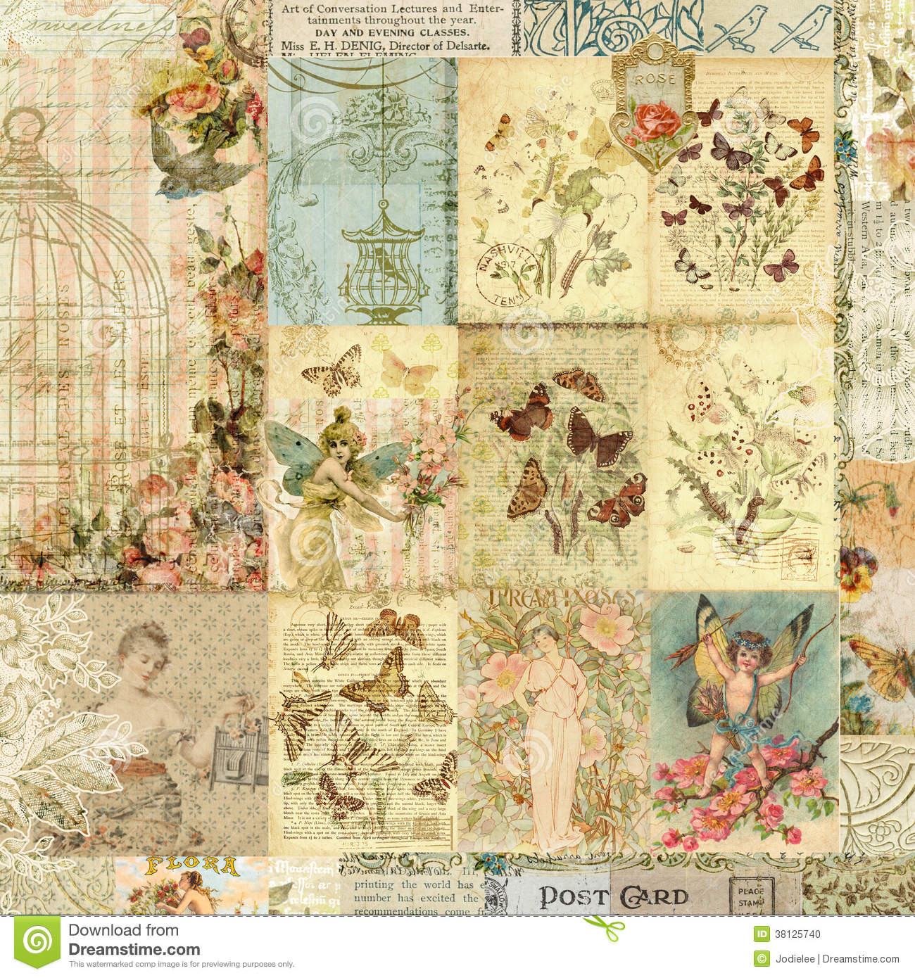 vintage fashion collage background wwwpixsharkcom