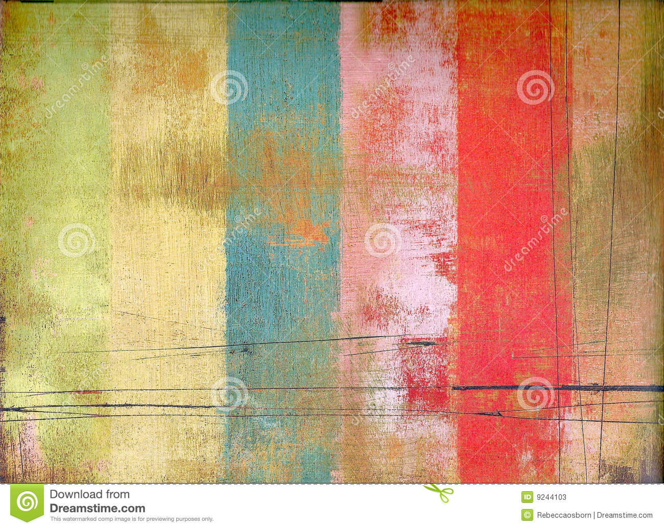 Vintage Colorful Design Royalty Free Stock Photo