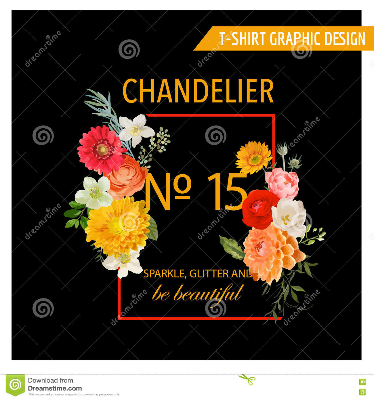 Colorful t shirt graphic design cartoon vector for T shirt graphic designer