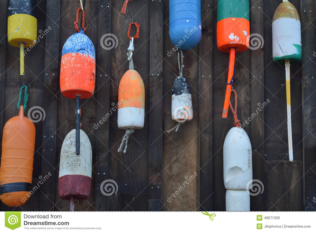 Colorful Lobster Buoys, Colorful Fishing Buoys With Numbers, Buoys Close Up, Many Buoys In One ...