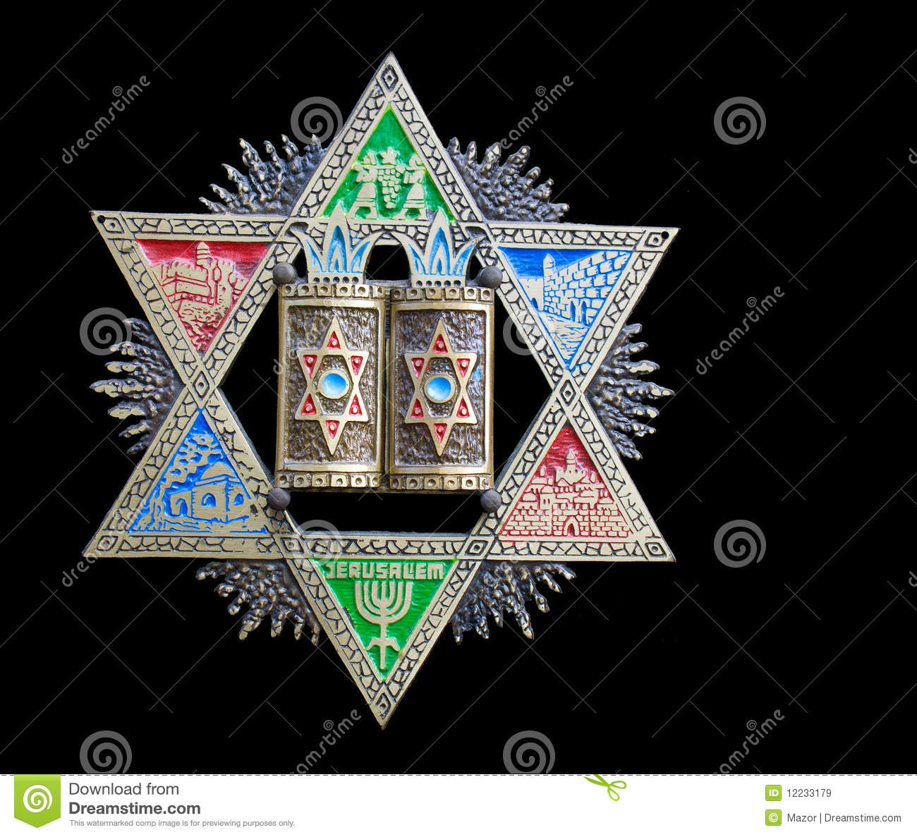 Vintage colorful magen david star of david stock image image vintage colorful magen david star of david biocorpaavc Choice Image