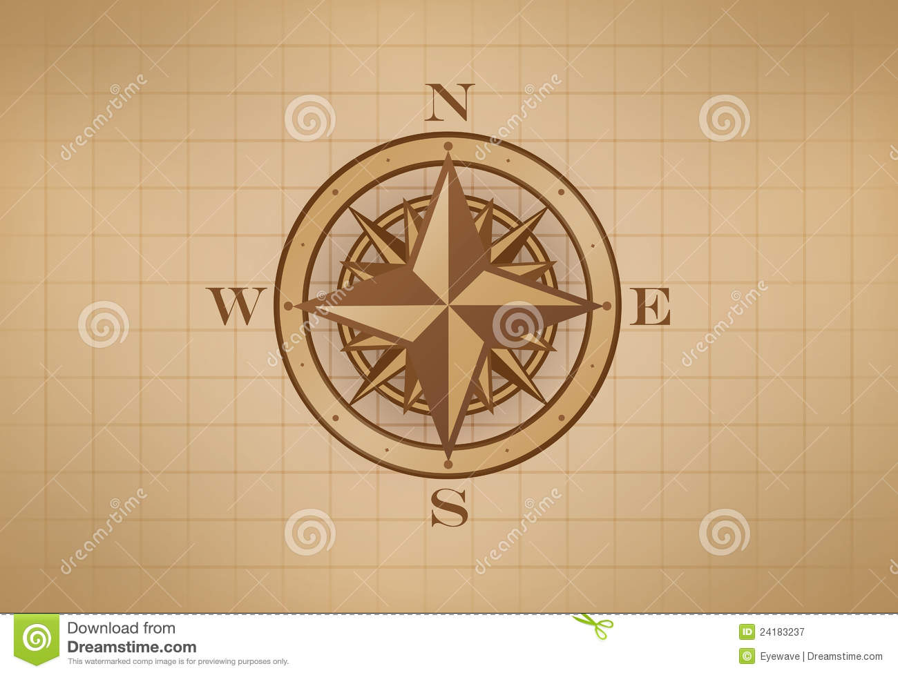 Vintage Compass Rose Royalty Free Stock Photography - Image: 24183237
