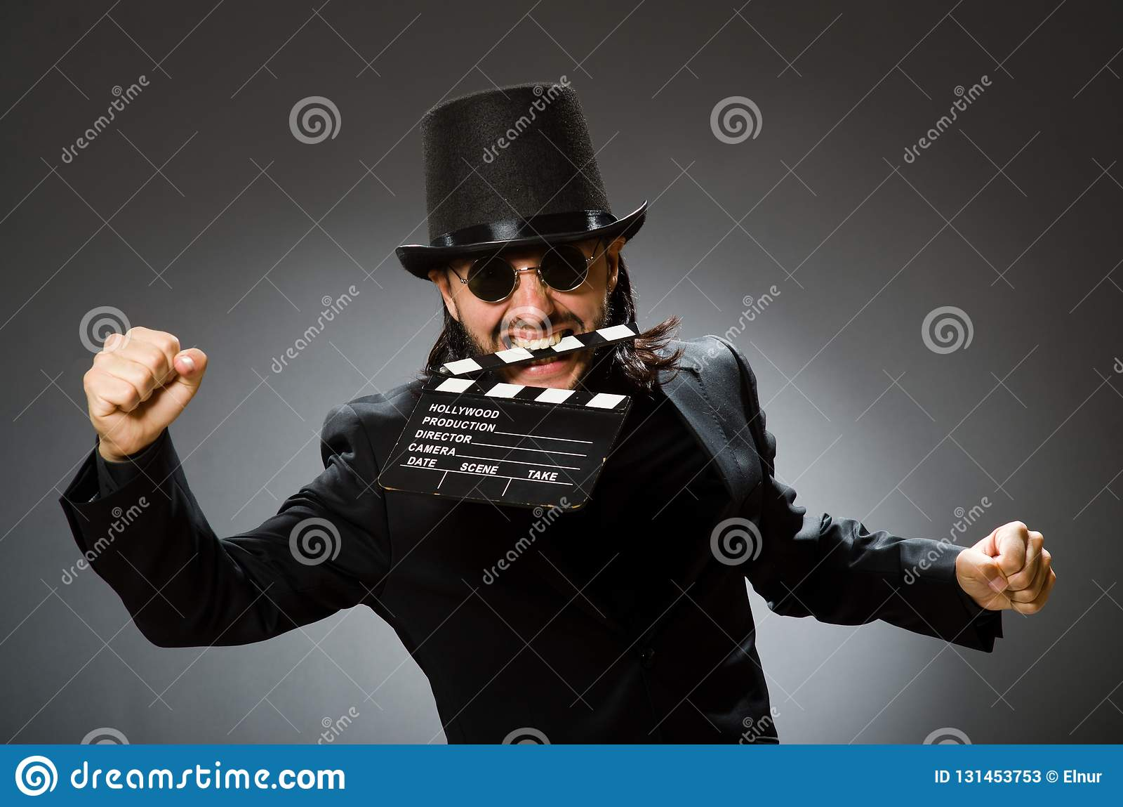 ed6a7b3d789 The Vintage Concept With Man Wearing Black Top Hat Stock Image ...