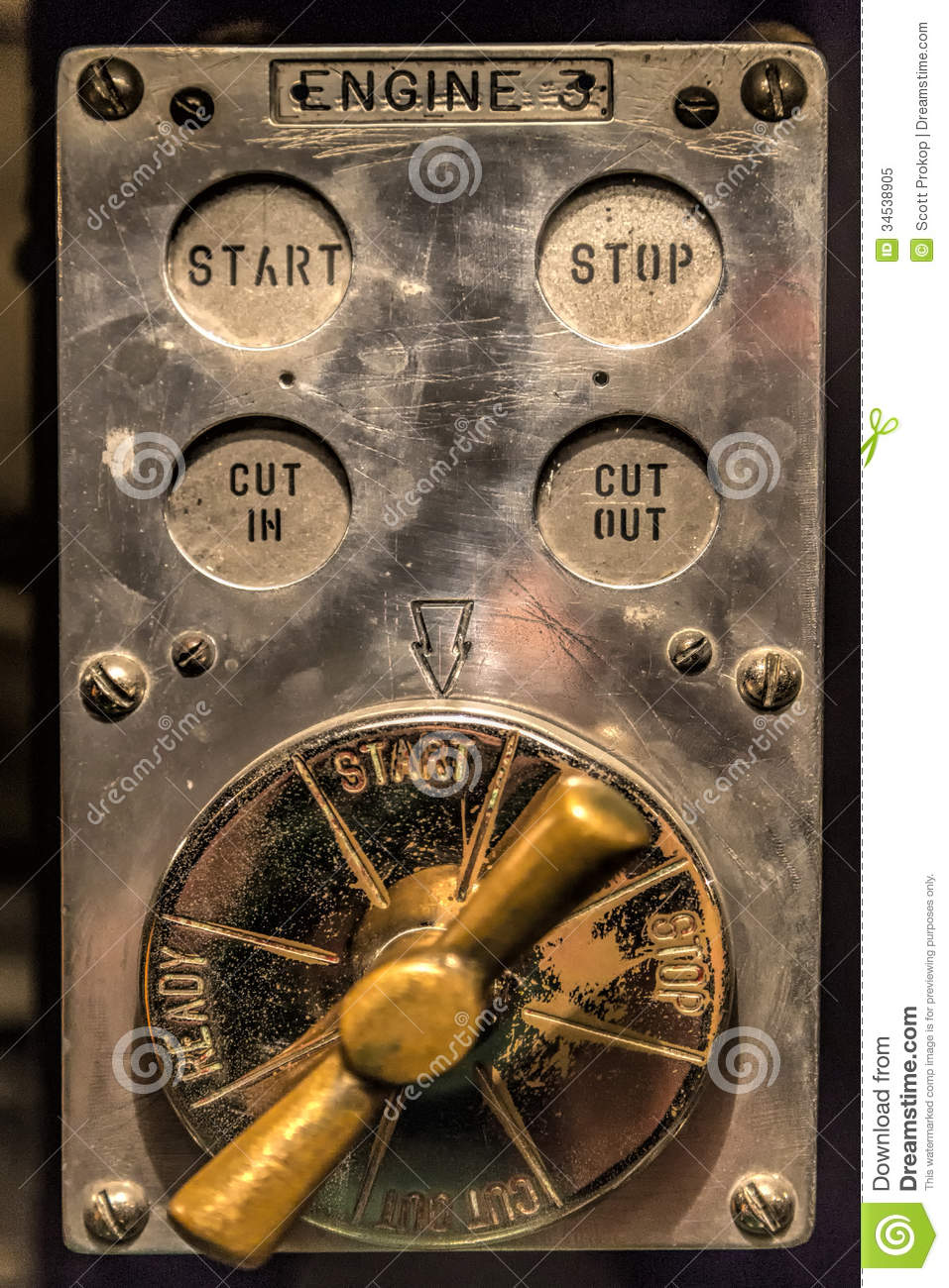 Vintage Control Board Stock Image Image Of Electronic