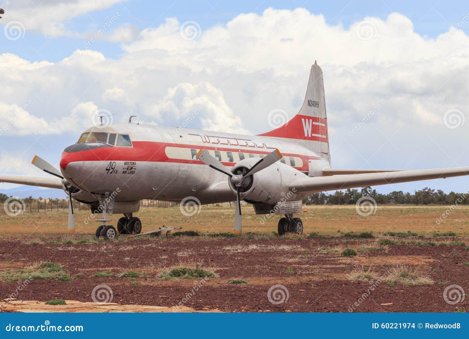 Vintage Convair 240 Western Airlines Passenger Airliner