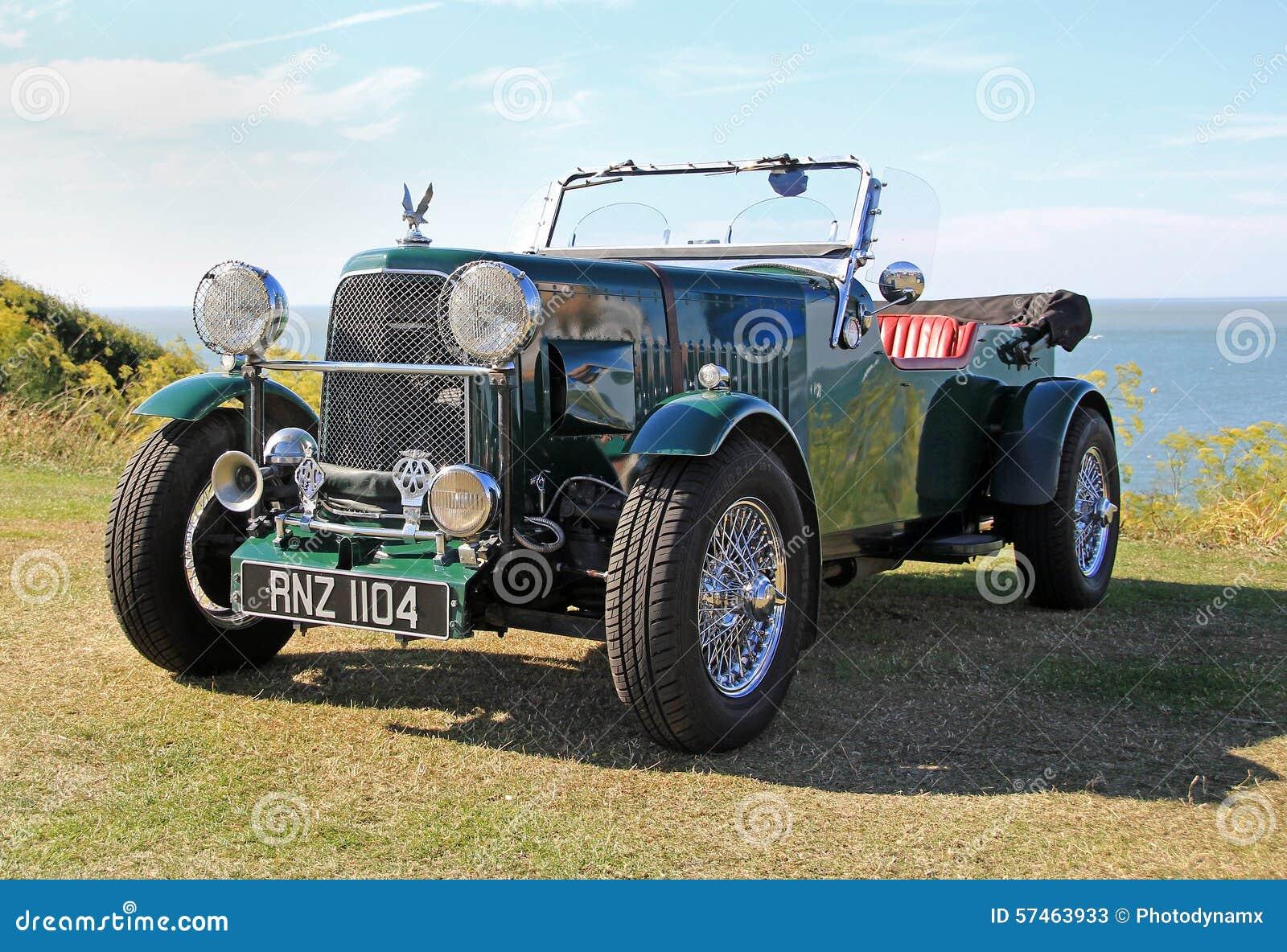 Vintage convertible mg car editorial stock photo. Image of 1920 ...