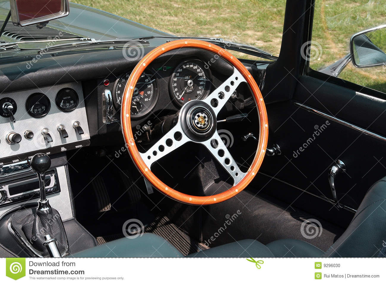 vintage convertible sports car interior closeup stock photo image 9296030