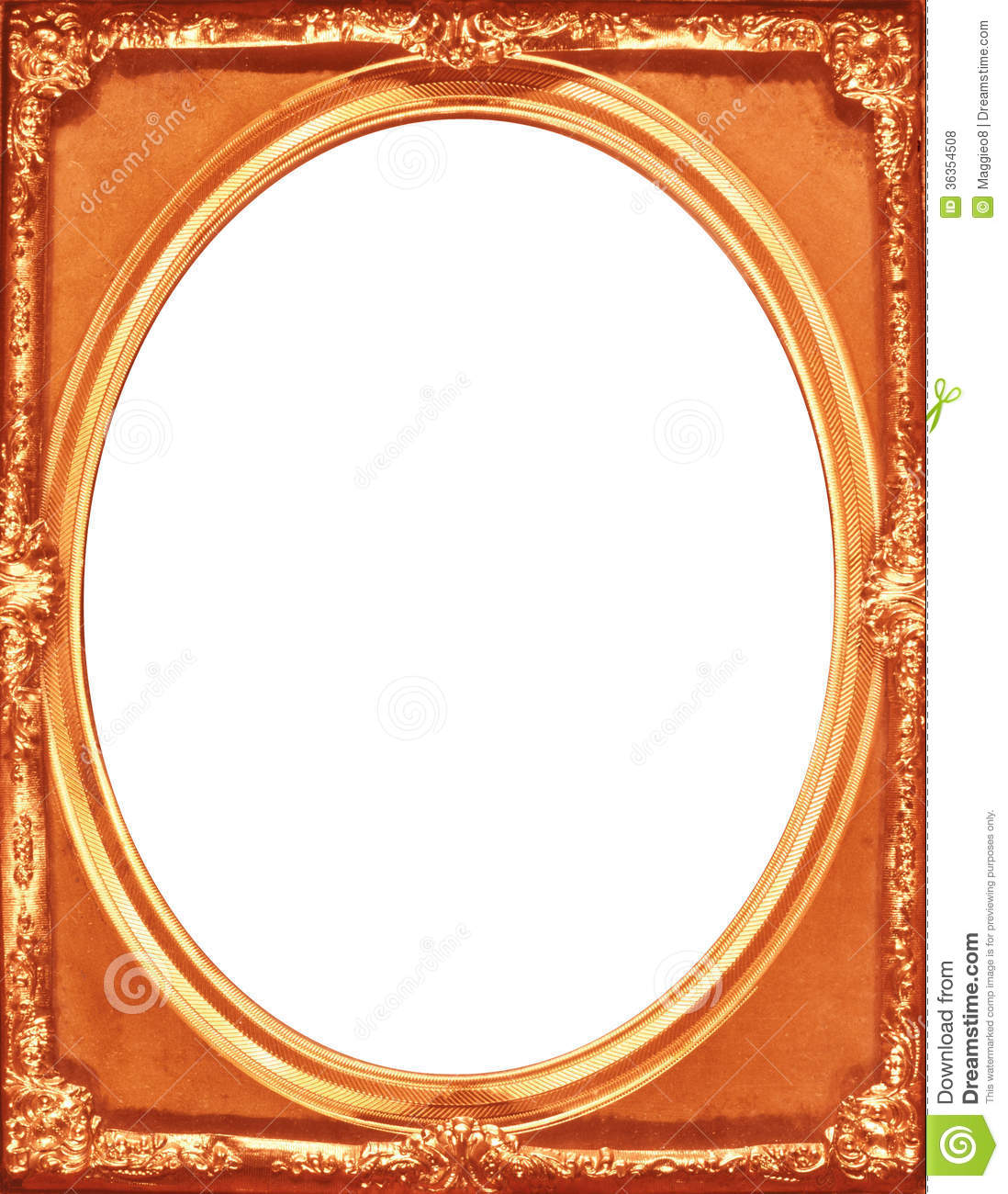vintage copper picture frame